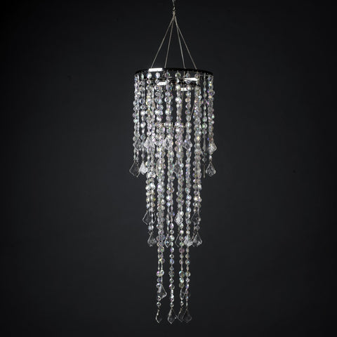Multi Diamond Cut Beaded Crystal Chandelier 10 AB
