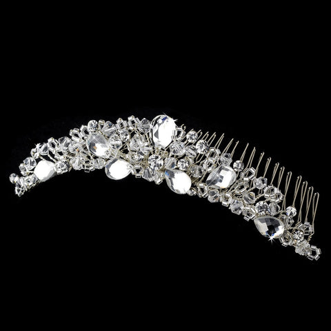 * Crystal Bridal Wedding Hair Comb 8120