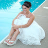 Breeze ~ High Wedge Bridal Wedding Flip Flops with Sequins & Crystals
