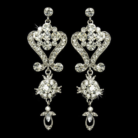 Stunning Crystal Chandelier Bridal Wedding Earrings E 1031