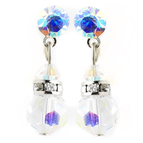 AB Swarovski Crystal Bridal Wedding Earrings E 200