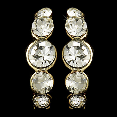 Earring 20339 Gold Clear
