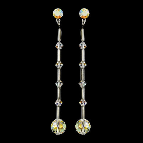 * AB Swarovski Crystal Bridal Wedding Earrings E 237