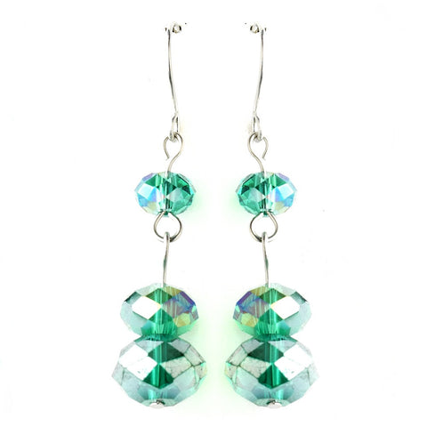 * Emerald Green Dangle Earring Set 7619