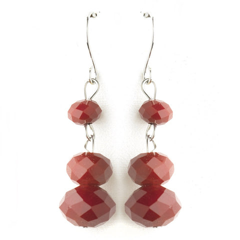 * Ruby Dangle Earring Set 7619