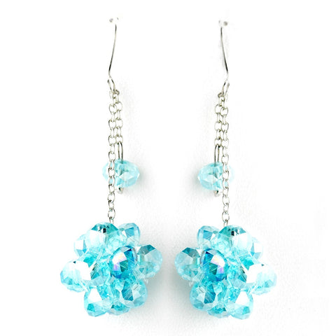 * Blue Cluster Dangle Earring Set 7620