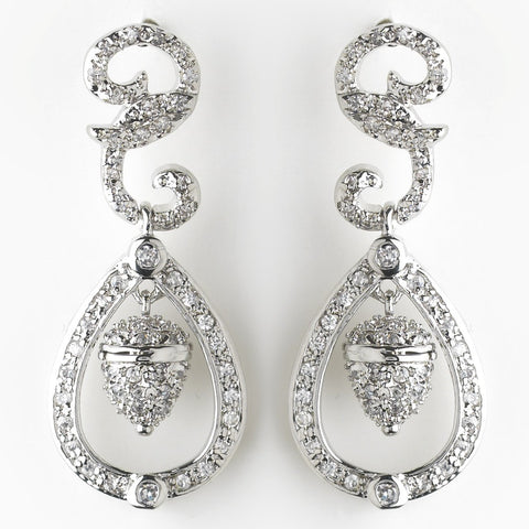 Royal Princess Kate Middleton Inspired Acorn Wedding Bridal Wedding Earrings E 8732