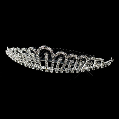 Silver Clear Rhinestone Bridal Wedding Hair Bridal Wedding Tiara Bridal Wedding Hair Comb 6046