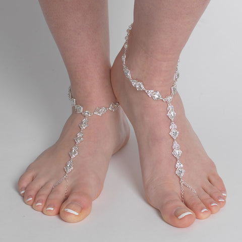 Marquise Rhinestone Bridal Wedding Foot Jewelry 9