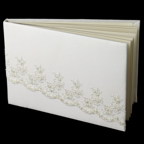 Bead Lace Bridal Wedding Guest Book 767