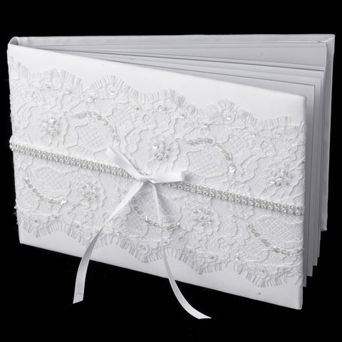 Lace Bridal Wedding Guest Book 800