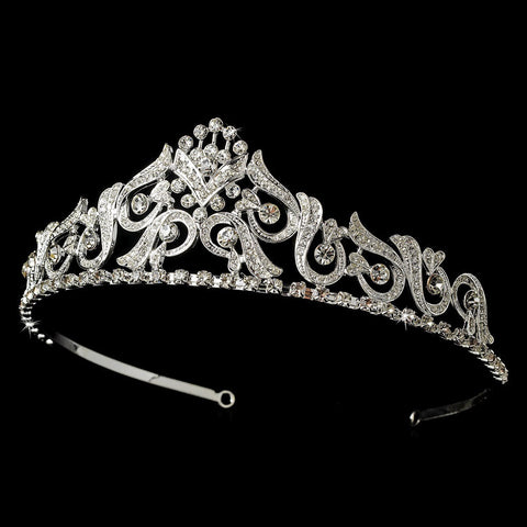Silver Bridal Wedding Tiara HP 1016