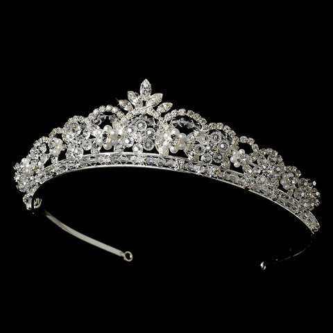 Crystal and Pearl Bridal Wedding Tiara HP 1038