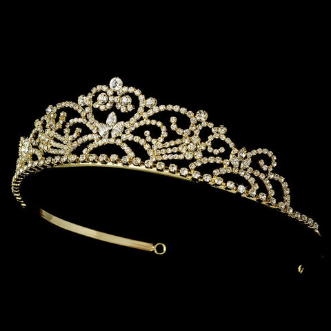 Small Pageant Rhinestone Bridal Wedding Tiara HP 1774