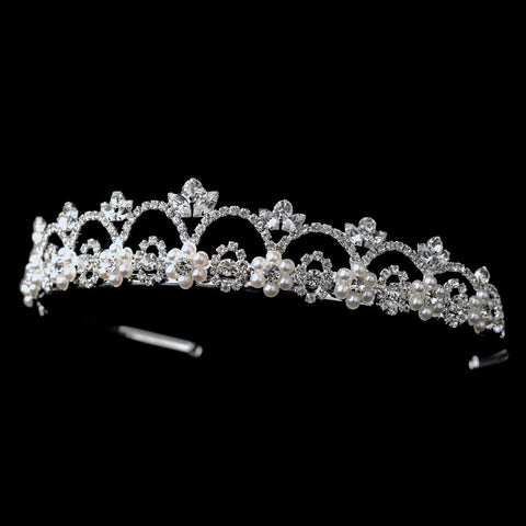 * White Pearl Bridal Wedding Tiara HP 2010