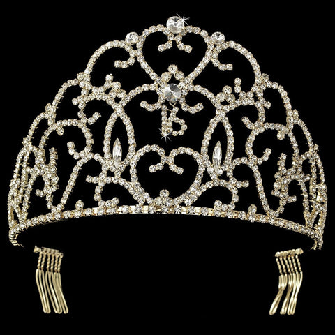 Gold Plated Sweet 16 Bridal Wedding Tiara HP 251