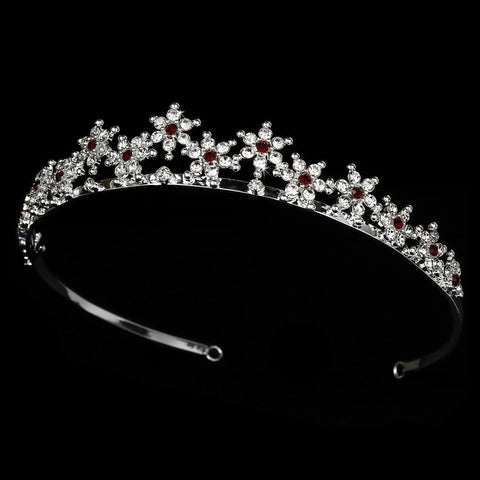 Burgundy Winter Snowflake Bridal Wedding Tiara HP 5439
