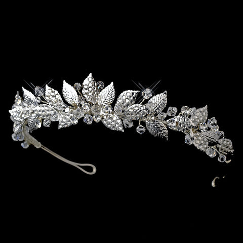 * Silver Vintage Bridal Wedding Tiara HP 604