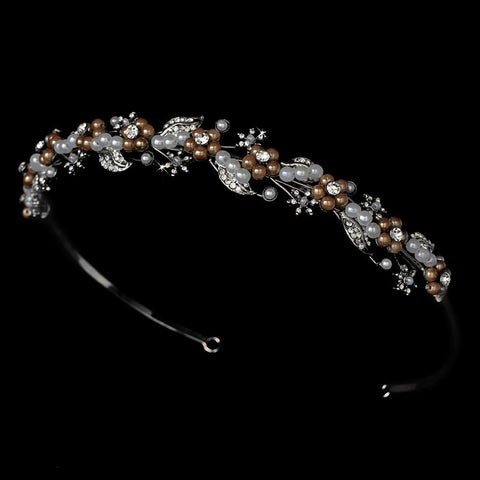 * Brown Classic Bridal Wedding Headband HP 6226
