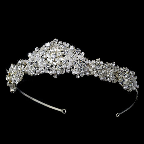 Pearl and Swarovski Crystal Bridal Wedding Tiara HP 7026