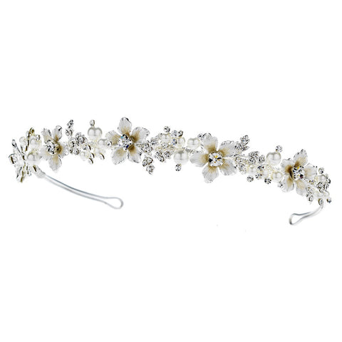 Pearl & Crystal Champagne Bridal Wedding Headband Bridal Wedding Tiara HP 7352