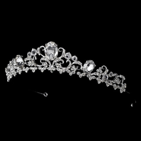 * Silver or Gold Plated Bridal Wedding Tiara HP 8266