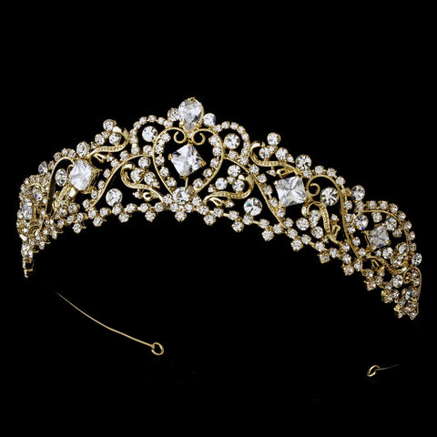Gold Plated Bridal Wedding Tiara HP 8271