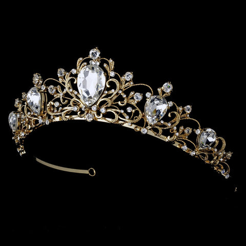 Headpiece 8329 Gold Clear