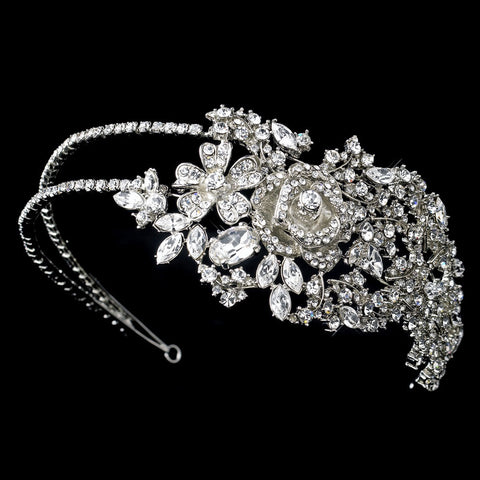 Antique Silver Clear Headpiece 932