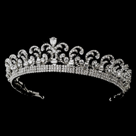 Royal Kate Middleton Inspired Halo Bridal Wedding Tiara 9949