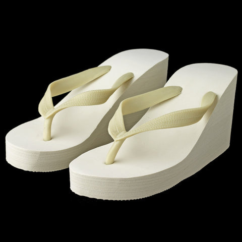 Plain Wedge Bridal Wedding Flip Flops