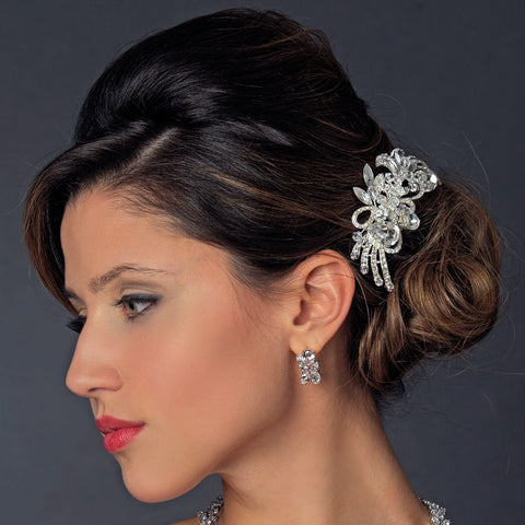 * Beautiful Crystal Vintage Swirl Inspired Wedding Bridal Wedding Hair Comb 586