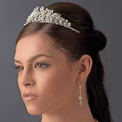 Rhinestone, Crystal & Pearl Bridal Wedding Tiara HP 4326