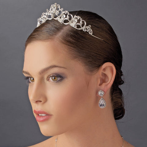 Vintage Rhinestone Bridal WeddingBridal Wedding Tiara HP 8113