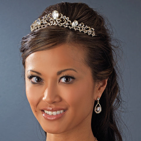 Gold or Silver Plated Bridal Wedding Tiara HP 8266