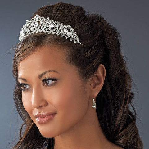 Silver Plated Bridal Wedding Tiara HP 8271