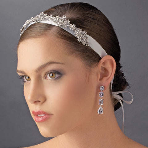 Ribbon Vintage Crystal Bridal Wedding Headpiece HP 8286