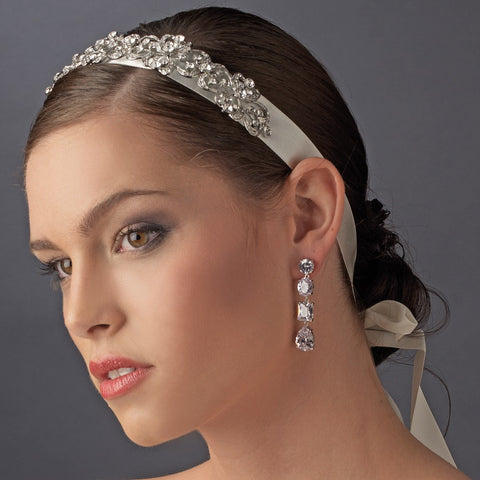 Vintage Rhinestone Bridal Wedding Ribbon Bridal Wedding Headband HP 8287