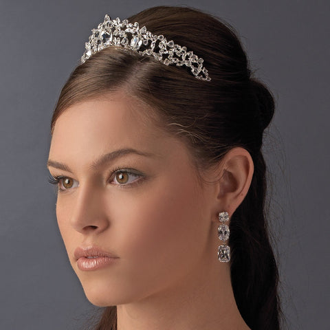 Elegant Silver Princess Rhinestone Sensation Bridal Wedding Tiara - HP 8342
