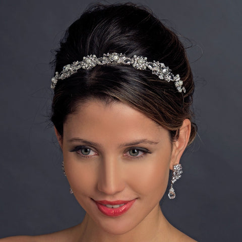 Vintage Bridal Wedding Headband with Pearls & crystals HP 9987