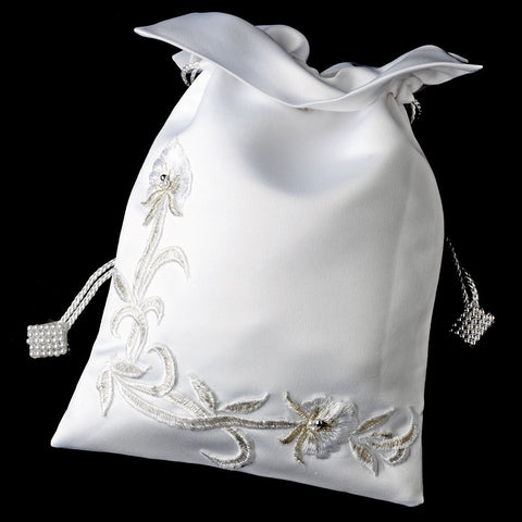 White Lily Bridal Wedding Money Bag 15
