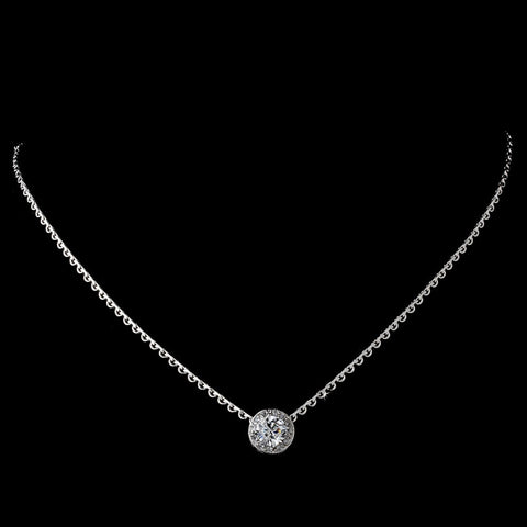 Bridal Wedding Necklace 3534 Silver Clear