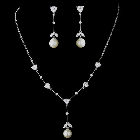 Stunning Bridal Wedding Necklace and Earring Set N 3732 E 3697