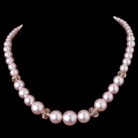 Pearl Bridal Wedding Necklace 7361