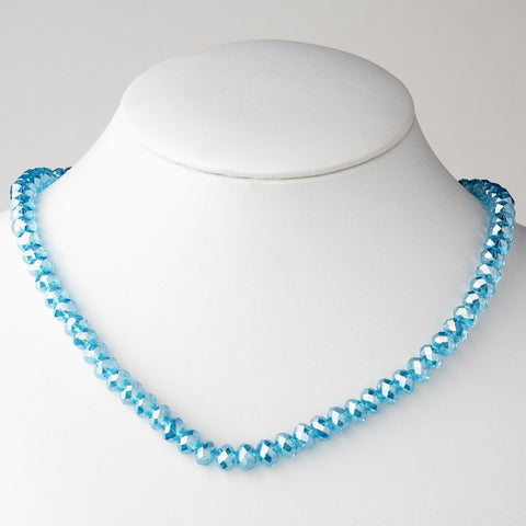 Aqua Bridal Wedding Necklace 7615