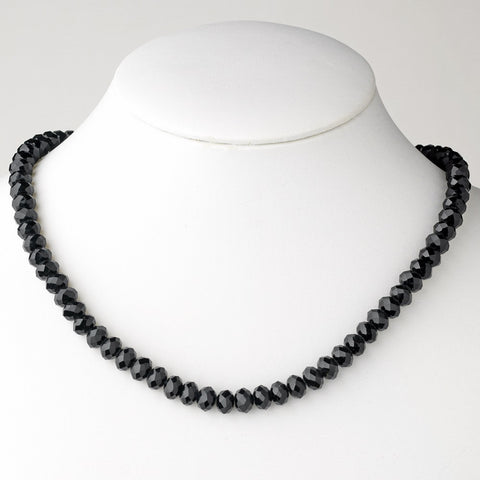 Black Bridal Wedding Necklace 7615