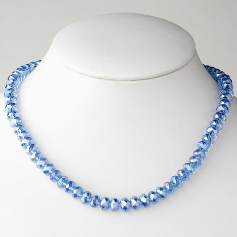 Blue Bridal Wedding Necklace 7615
