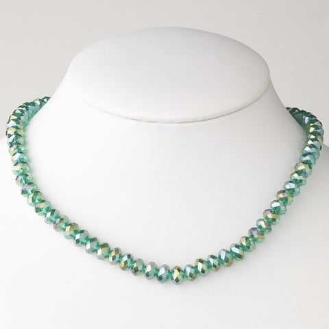 Emerald Bridal Wedding Necklace 7615