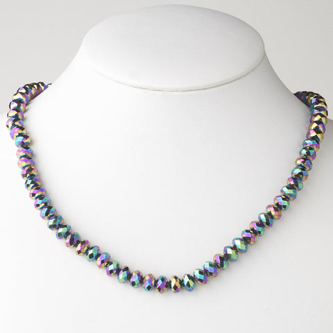 Multi Color Bridal Wedding Necklace 7615