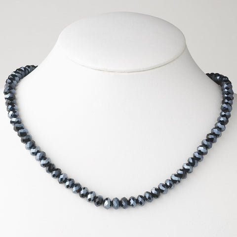 Navy Blue Bridal Wedding Necklace 7615